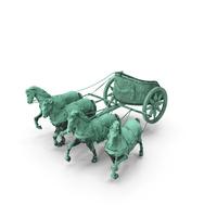 Quadriga Chariot Statue PNG & PSD Images