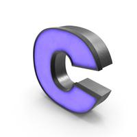 Luminous Letter C Blue Lowercase PNG & PSD Images