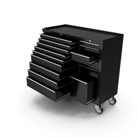 Opened Tool Box Black PNG & PSD Images