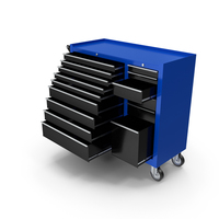 Opened Tool Box Blue New PNG & PSD Images