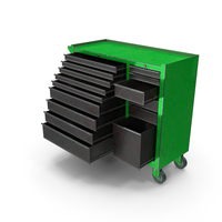 Opened Tool Box Green PNG & PSD Images