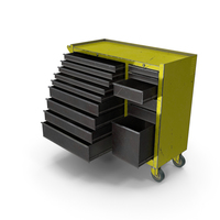 Opened ToolBox Yellow PNG & PSD Images
