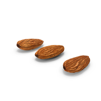 Raw Almonds Set PNG & PSD Images