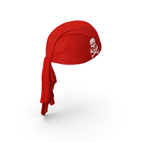 Red Pirate Scarf PNG & PSD Images