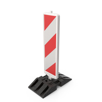 Reflective Beacon for Roadworks Vertical with Stripes PNG & PSD Images