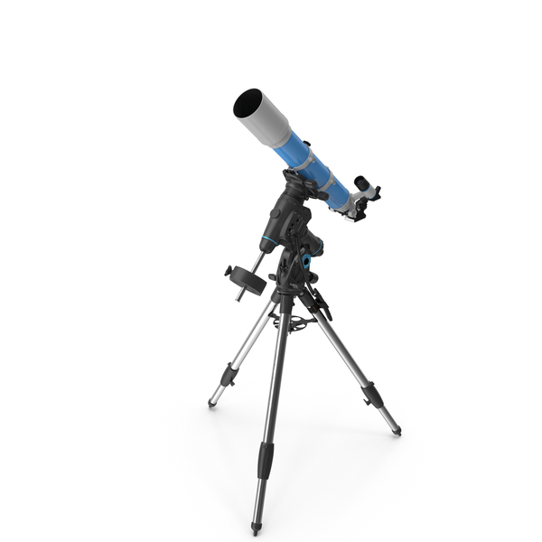 Refractor Telescope with Mount Tripod Generic PNG & PSD Images
