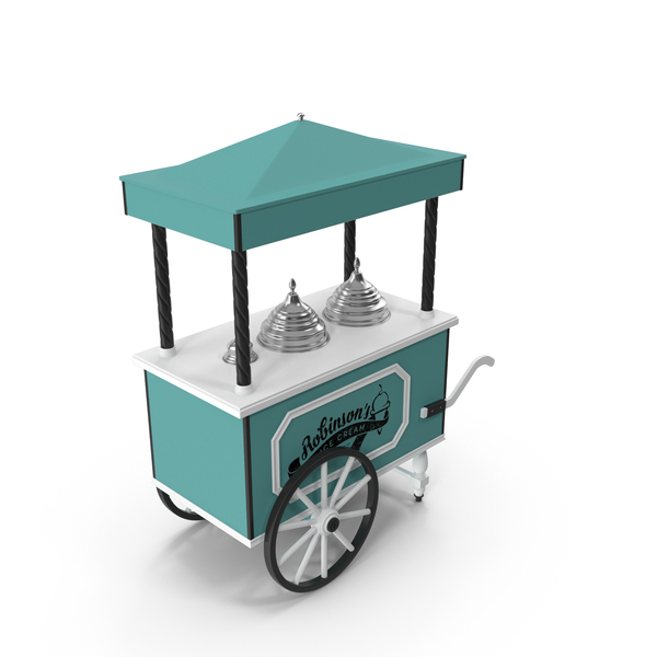 Retro Ice Cream Cart PNG & PSD Images