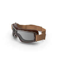 Retro Pilot Goggles Brown PNG & PSD Images