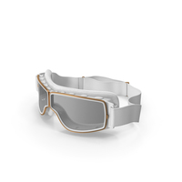 Retro Pilot Goggles White PNG & PSD Images
