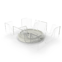 Revolving Dual Tray Holder For Playing Card 6 Decks PNG & PSD Images