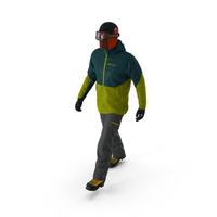 Rock Climber Winter Hiking Gear Walking Pose PNG & PSD Images