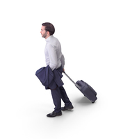 Business Man With Suitcase PNG & PSD Images