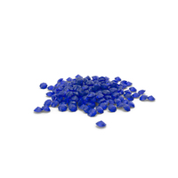 Pile Of Diamonds Blue PNG & PSD Images