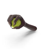 Creature Hand Grabbing a Tennis Ball PNG & PSD Images