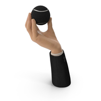 Suit Hand Holding a Black Tennis Ball PNG & PSD Images