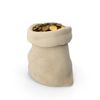 Bag of coins PNG & PSD Images