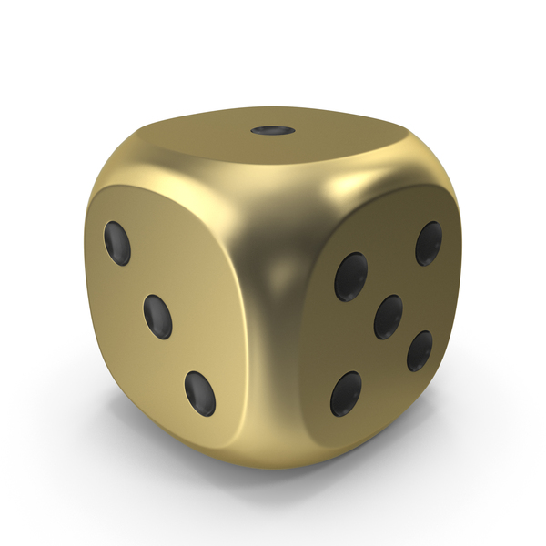 Dice Gold Black Up 1 PNG & PSD Images