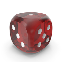 Dice Transparent Red White PNG & PSD Images
