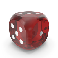 Dice Transparent Red White Up PNG & PSD Images