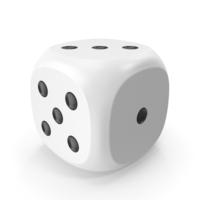 Dice White Black Up PNG & PSD Images