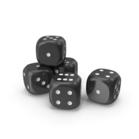 Dices Black White PNG & PSD Images