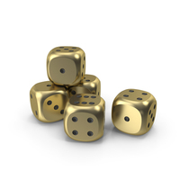 Dices Gold Black PNG & PSD Images