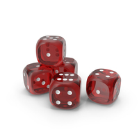 Dices Transparent Red White PNG & PSD Images
