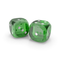 Dices Duo Transparent Green White PNG & PSD Images