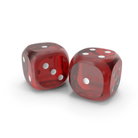 Dices Duo Transparent Red White PNG & PSD Images