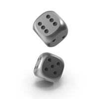 Dices Falling Metal Black PNG & PSD Images