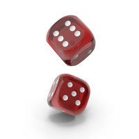 Dices Falling Transparent Red White PNG & PSD Images