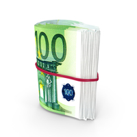 Rotating Bundle of Many Rolled Up 100 Euro PNG & PSD Images