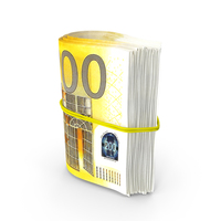 Rotating Bundle of Many Rolled Up 200 Euro PNG & PSD Images
