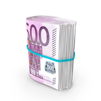 Rotating Bundle of Many Rolled Up 500 Euro PNG & PSD Images