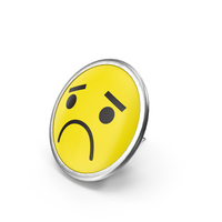 Round Pin Unhappy Face PNG & PSD Images