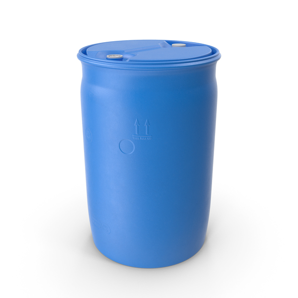 Round Plastic Barrel 30 Gal PNG & PSD Images