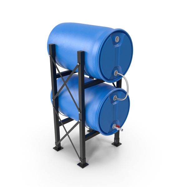 Round Plastic Double Barrel Water Storage PNG & PSD Images