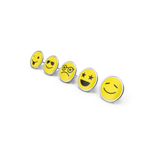 Round Smiley Faces Pins PNG & PSD Images