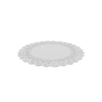 Round White Paper Lace Doily PNG & PSD Images