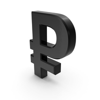 Russian Ruble Currency Symbol Plastic PNG & PSD Images