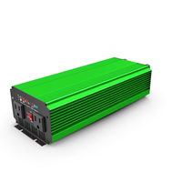 Power Inverter Green PNG & PSD Images