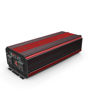 Power Inverter Red Used PNG & PSD Images
