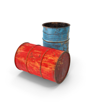 Rusty Waste Oil Drums PNG & PSD Images