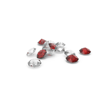 Pile Of Diamonds Red White PNG & PSD Images