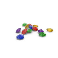 Pile Of Colored Diamonds PNG & PSD Images