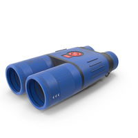 Binocular Blue Used PNG & PSD Images