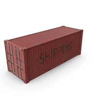 Shipping Container Red PNG & PSD Images