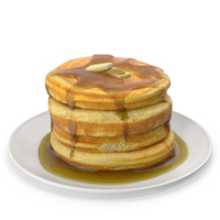 Pancakes with Syrup and Butter PNG & PSD Images