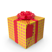 Gift Box Label Yellow PNG & PSD Images