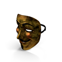 Golden Guy Fawkes Mask PNG & PSD Images